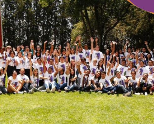 Jóvenes voluntarios de Chile