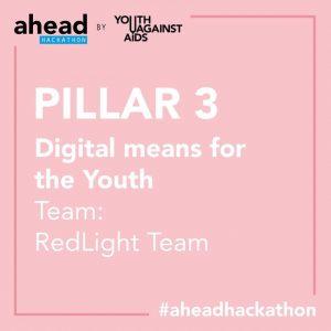 """Equipo Red Light, ganador del Pilar 3 que buscó responder a la pregunta """"¿Qué servicios digitales necesitan los jóvenes para acceder a información válida?"""""""