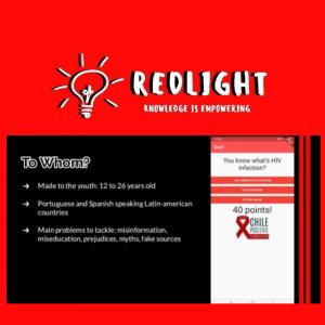 Equipo de Red-Light, presentando proyecto en AHEAD Hackathon 2020